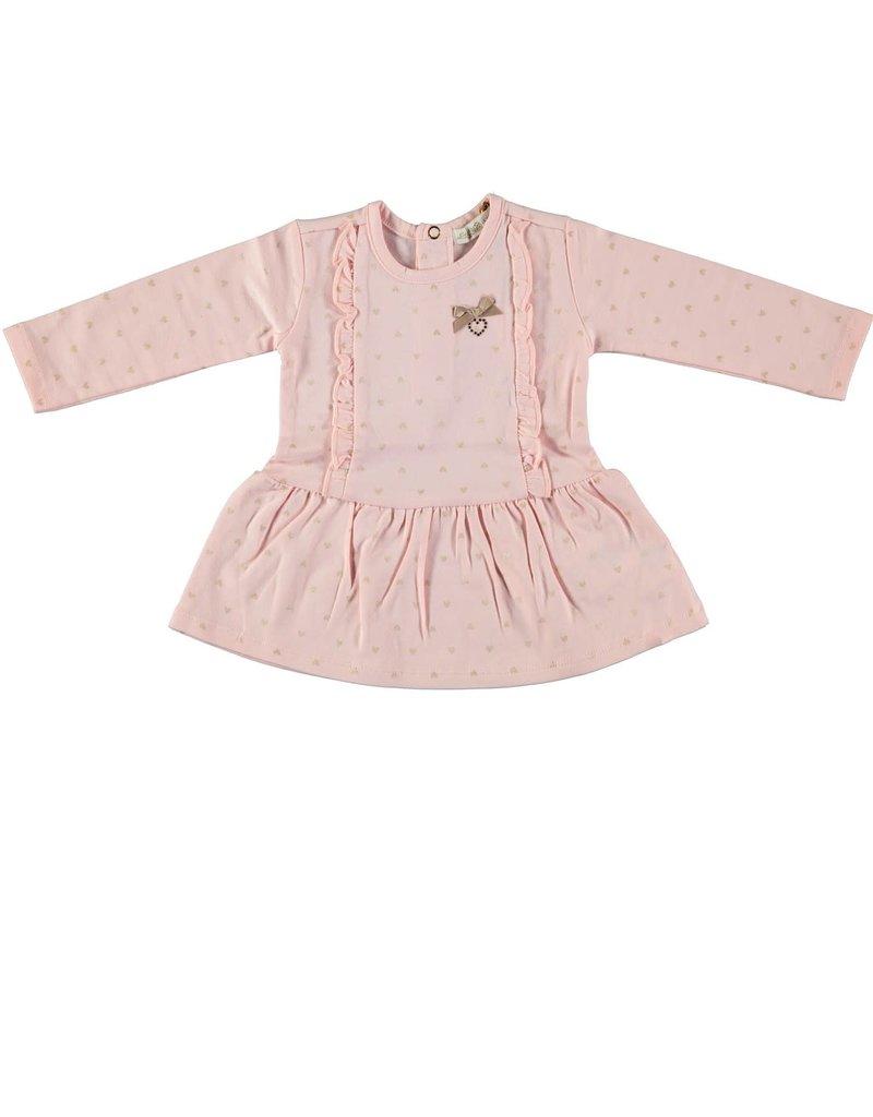 "Le Chic Le Chic dress ""all-over hearts"" C908-9895 Powder Blush"
