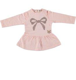 Le Chic Le Chic dress with rhinestone-bow C908-9891 Powder Blush