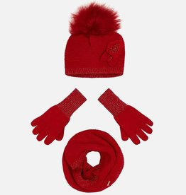Mayoral Mayoral Hat and gloves set Red - 10699
