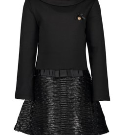 Le Chic Le Chic dress pressed leather-look C909-5819 Black