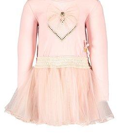 Le Chic Le Chic petticoat dress heart & bow C909-7823 Victorian Pink