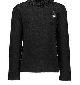 Le Chic Le Chic T-shirt glitter stretch C909-5415 Black