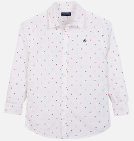 Mayoral Mayoral L/s jacquard shirt White - 07116