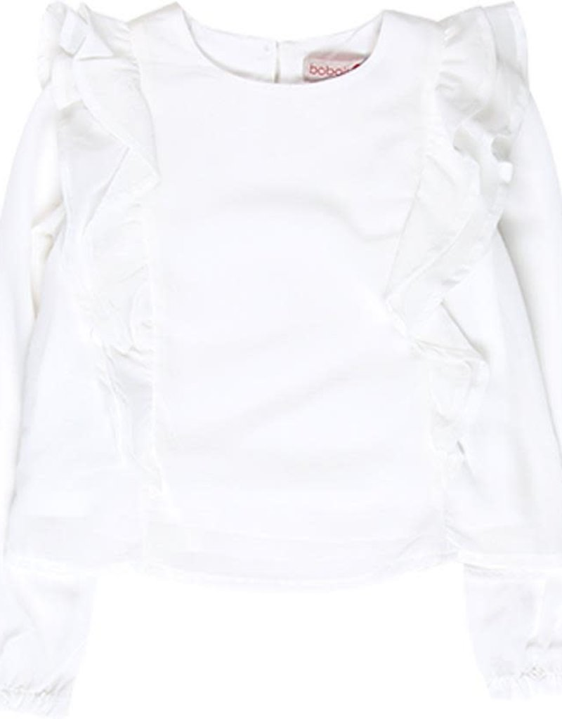 Boboli Boboli Blouse with gauze for girl WHITE 728029