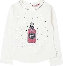 Boboli Boboli Stretch knit t-Shirt for girl white 728580