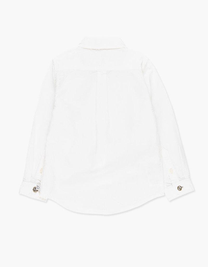 Boboli Boboli Oxford long sleeves shirt for boy WHITE 738086