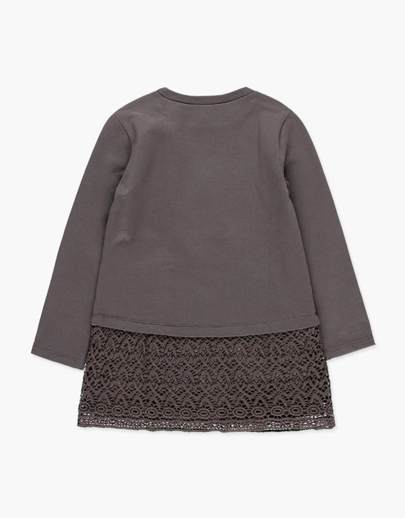Boboli Boboli Fleece dress stretch for girl STORM 468110