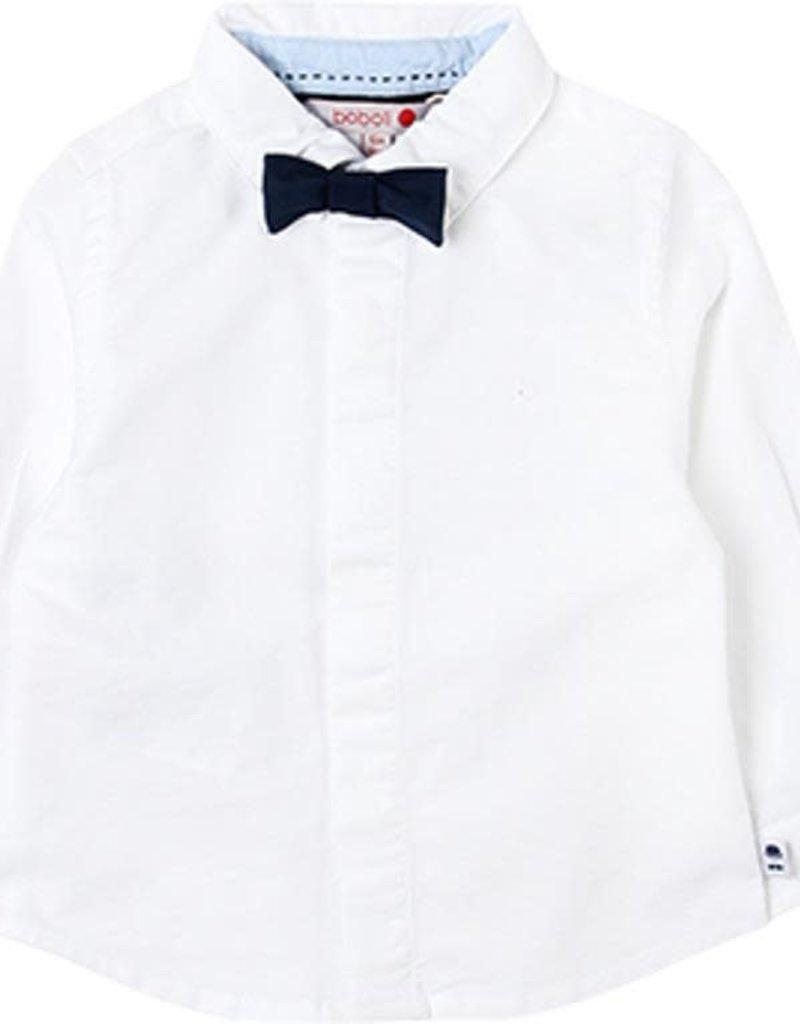Boboli Boboli Oxford long sleeves shirt for baby boy WHITE 718028