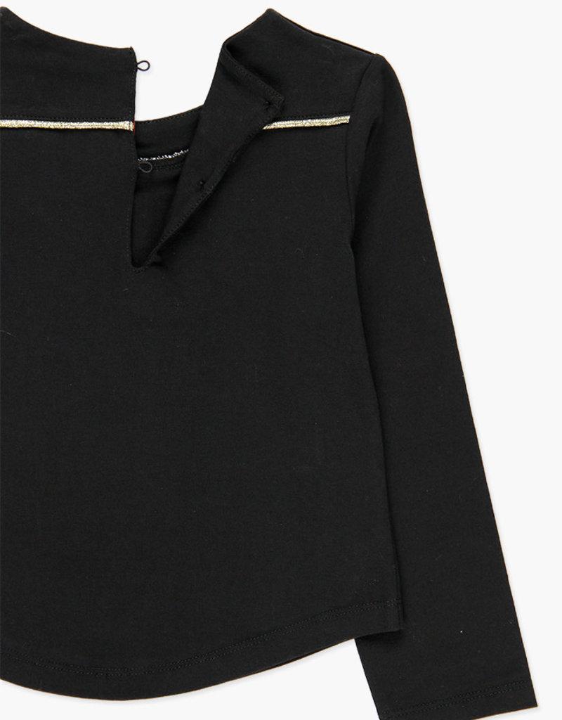 Boboli Boboli Stretch knit t-Shirt for girl BLACK 728423