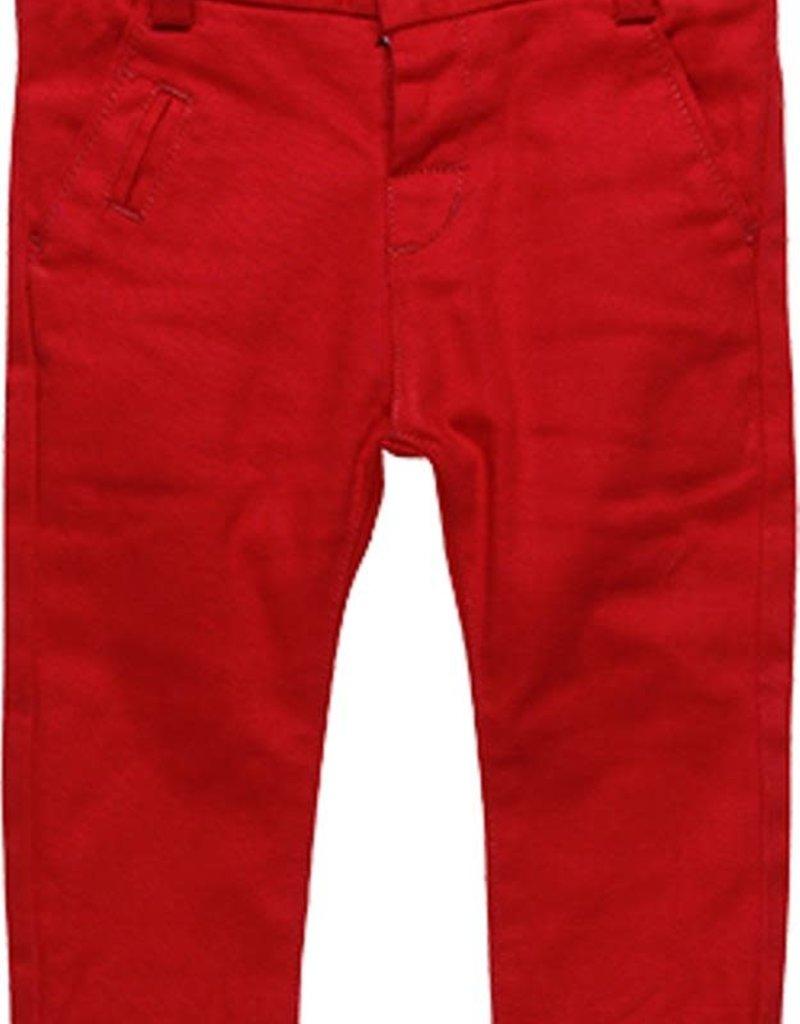 Boboli Boboli Stretch twill trousers for baby boy scarlet 718040