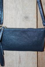 Tasje blauw glitter met lang hengsel