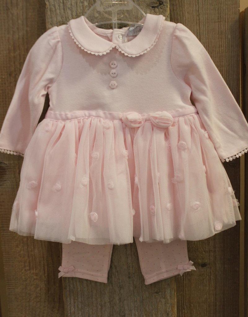 Blues baby Blue wear Jurkje roze met tuille rok en legging