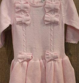 Blues baby Blue wear Jurkje roze gebreid met strikken