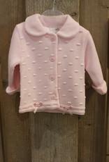 Blues baby Blue wear jasje roze gebreid met strikjes