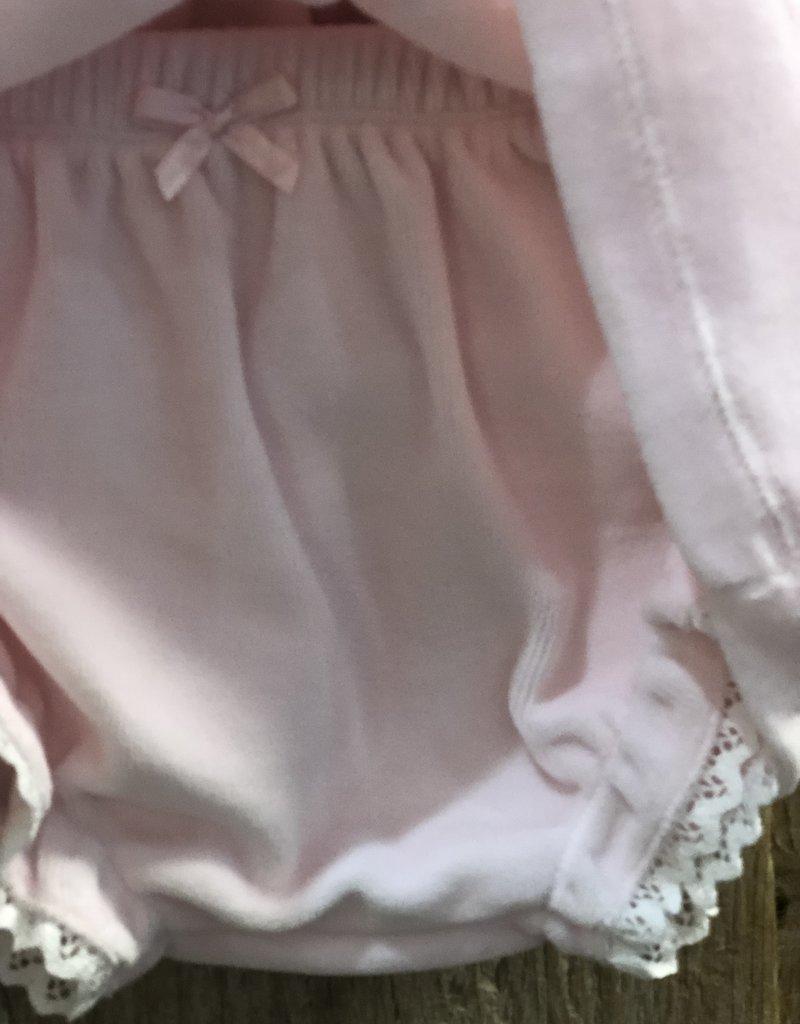 Blues baby Blue wear Jurkje roze velours met luier broekje