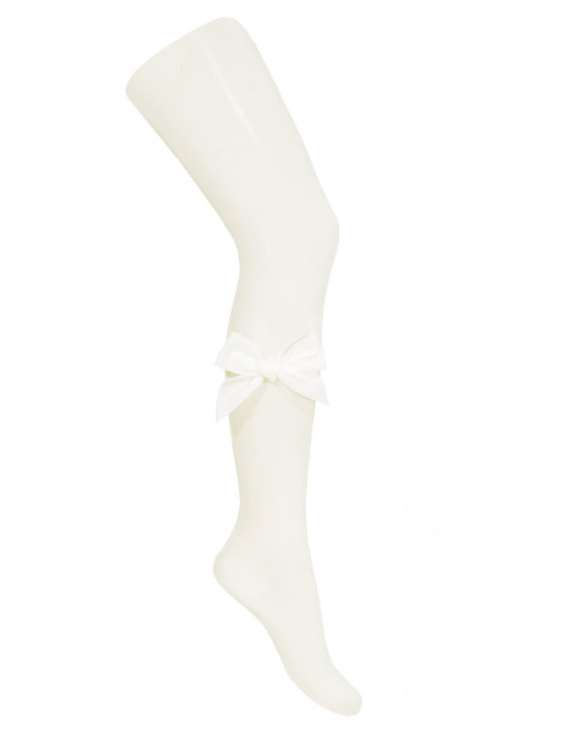 Condor Condor maillot  off white met fluwelen strikken