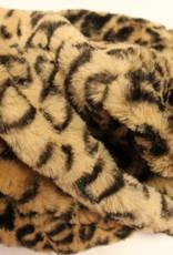 Rolkraag bont tijger print