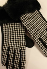 handschoenen zwart wit met bont