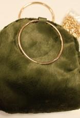 Bonttas groen met gouden ketting
