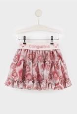 Conguitos Conguitos Rok tuille met roze bloem print en elastische band