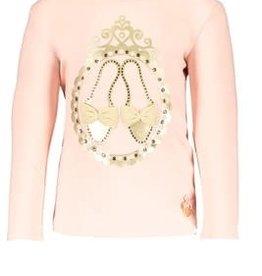 Le Chic Le Chic Shirt roze met gouden schoentjes