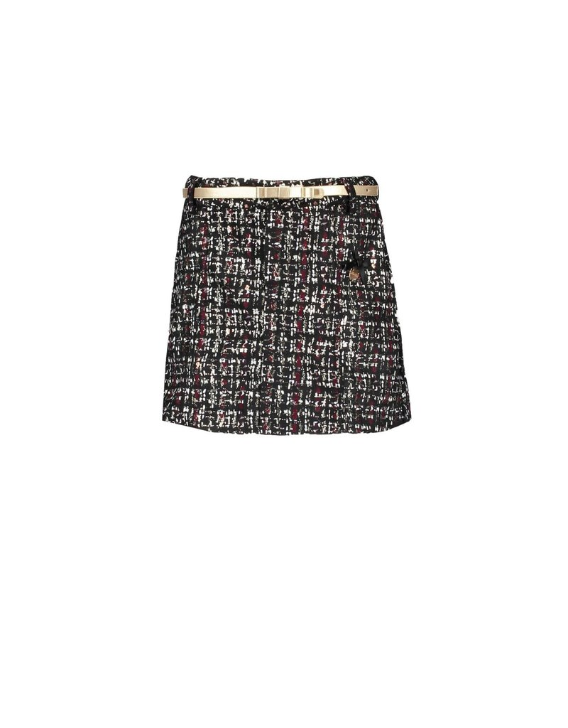 Le Chic Le Chic skirt glitter tweed C909-5728 Grey bordeauw