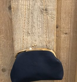 Tas met knip donkerblauw