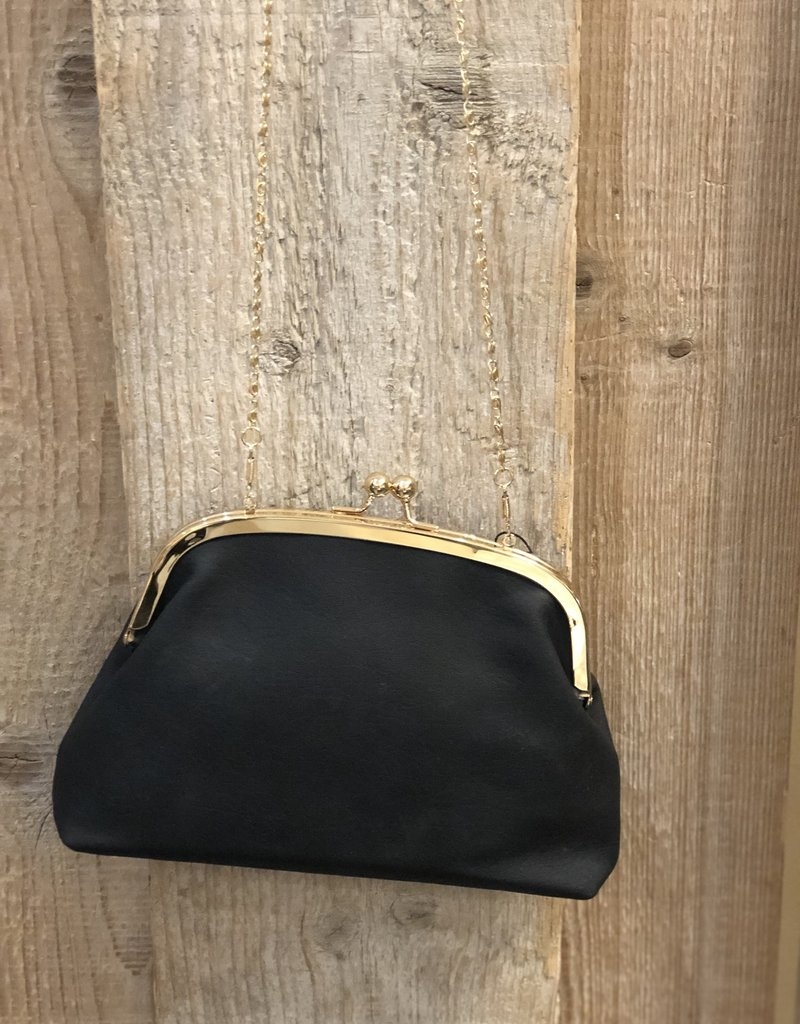 Tas met knip zwart