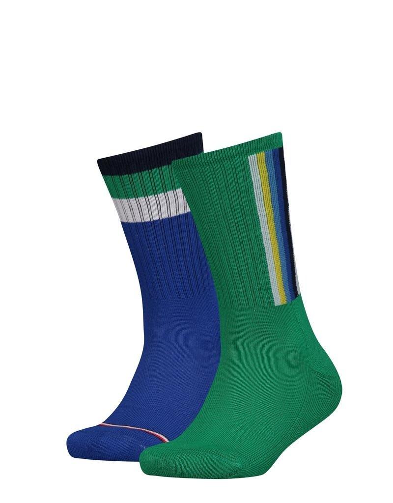 Tommy Hilfiger Tommy Hilfiger sokken groen en kobalt