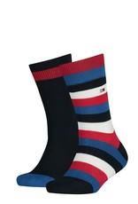 Tommy Hilfiger Tommy Hilfiger sokken rood wit blauw gestreept