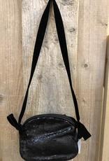 Tas zwart met fluwelen band