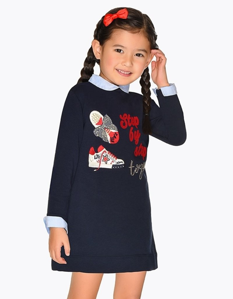 Mayoral Mayoral Embroidered trainers dress for girl