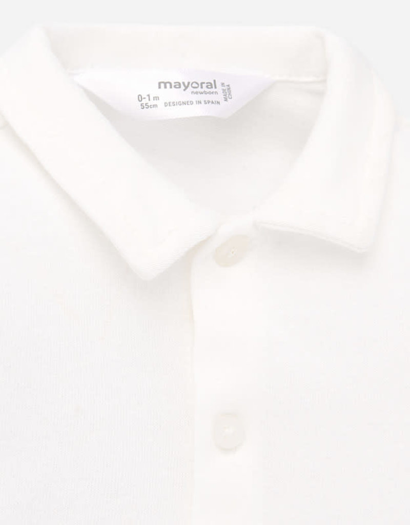 Mayoral Mayoral Romper/Blouse off white van tricot