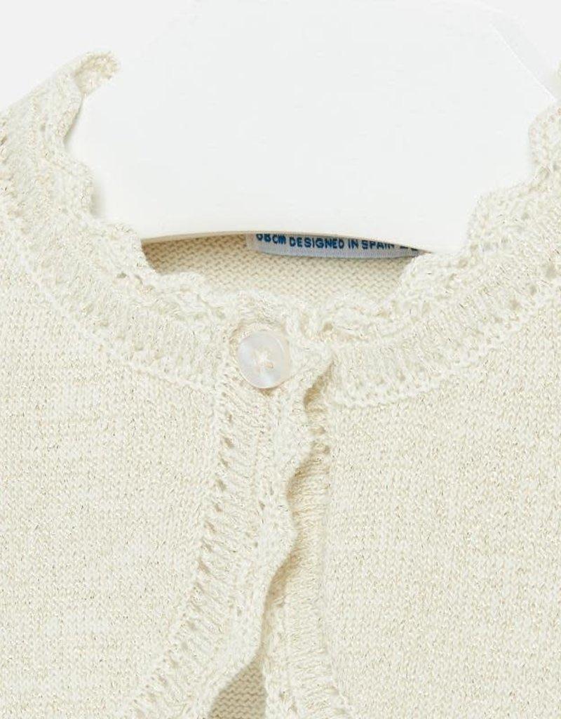 Mayoral Mayoral Basic knitted cardigan goud