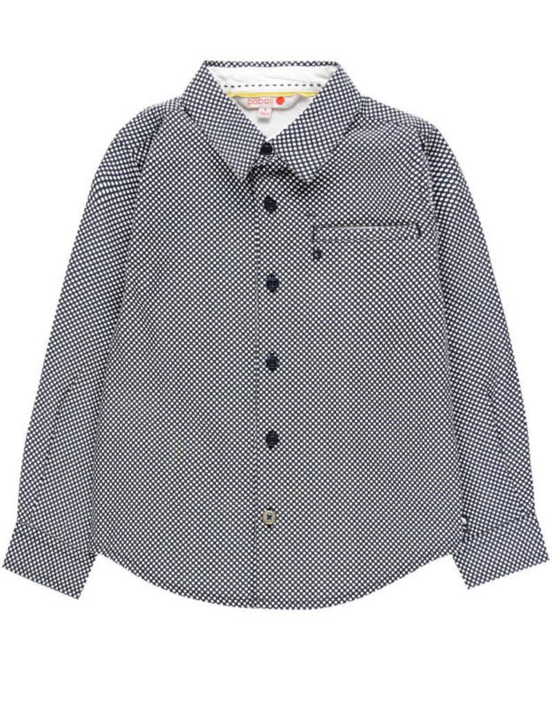 Boboli Boboli Overhemd donkerblauw met witte stippen