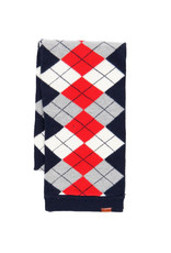 Boboli Sjaal ruit rood wit blauw