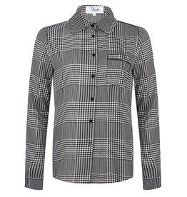 Jacky Jacky blouse zwart wit Pied-de-poule