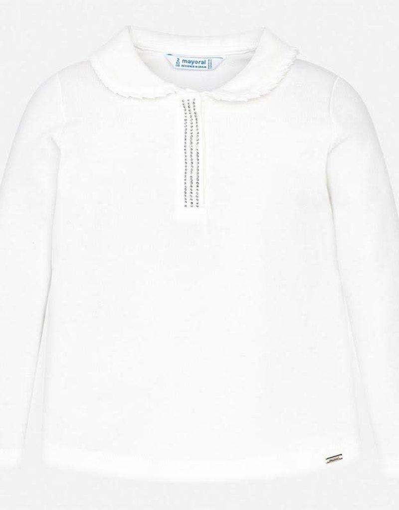 Mayoral Mayoral L/s t-shirt basis off white