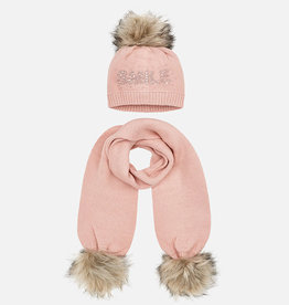 Mayoral Mayoral Hat and scarf set for girl roze
