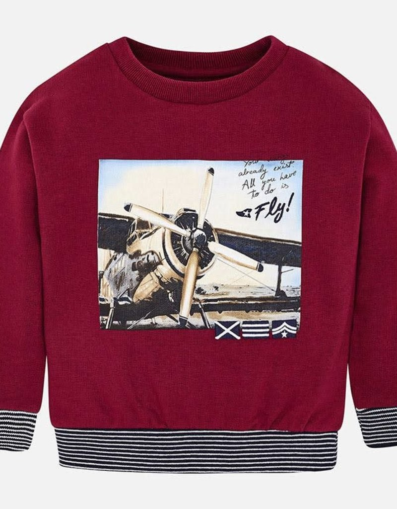 "Mayoral Mayoral Pullover ""plane"" bordeaux - 04426"