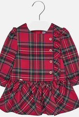 Mayoral Mayoral Checked dress for baby girl red
