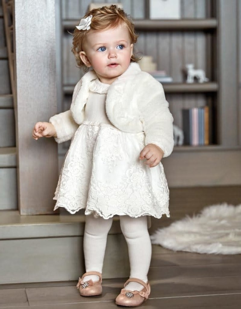 Mayoral Mayoral  dress for baby off white