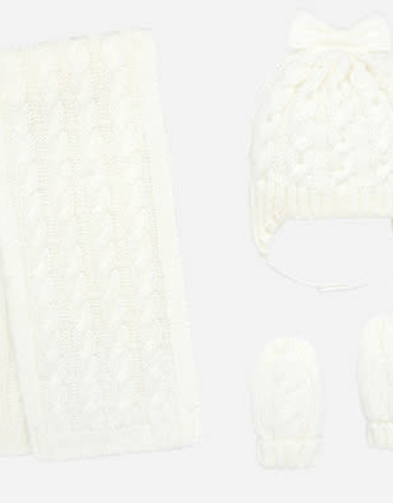 Mayoral Mayoral set driedelig off white met strik en parel