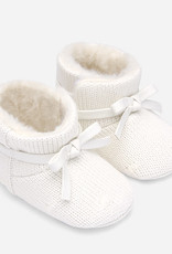 Mayoral Knit booties for newborn girl