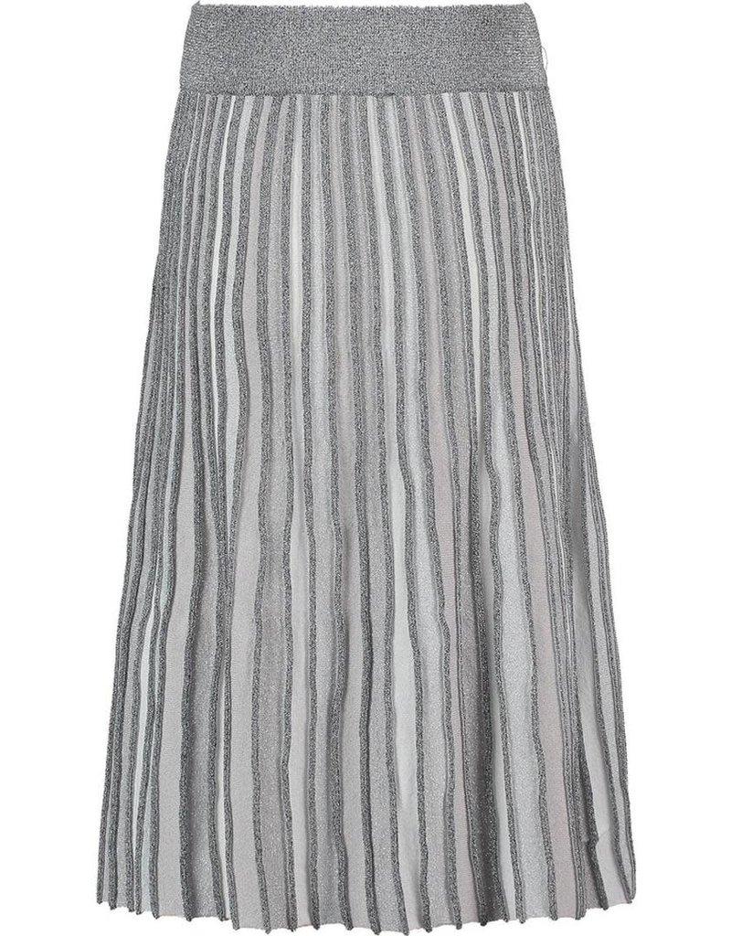 CKS CKS Blazer rok plisee zilver met elastische band