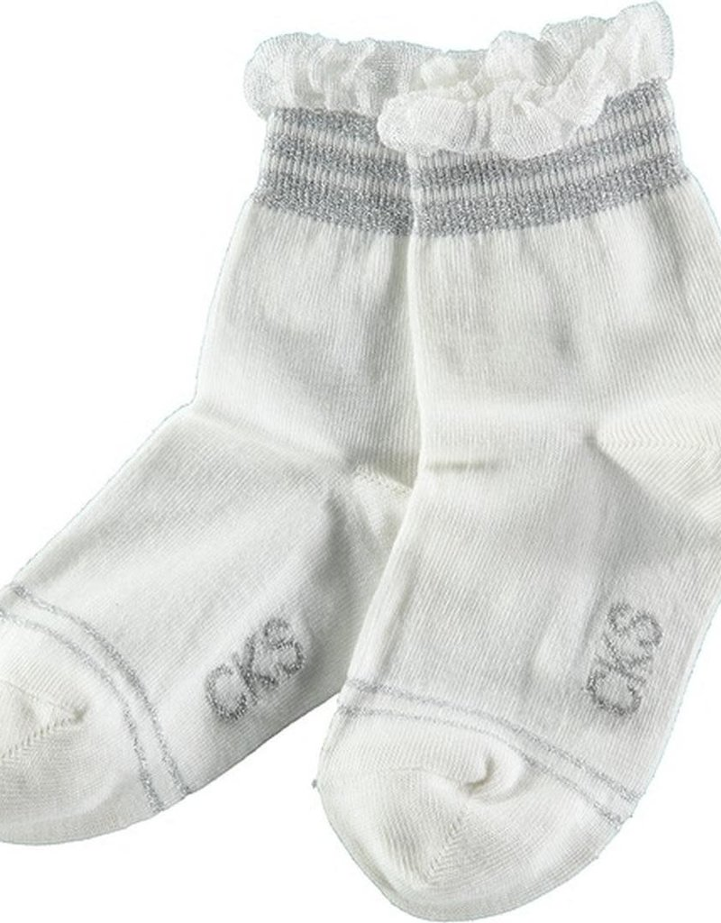 CKS CKS Sokjes wit met zilver