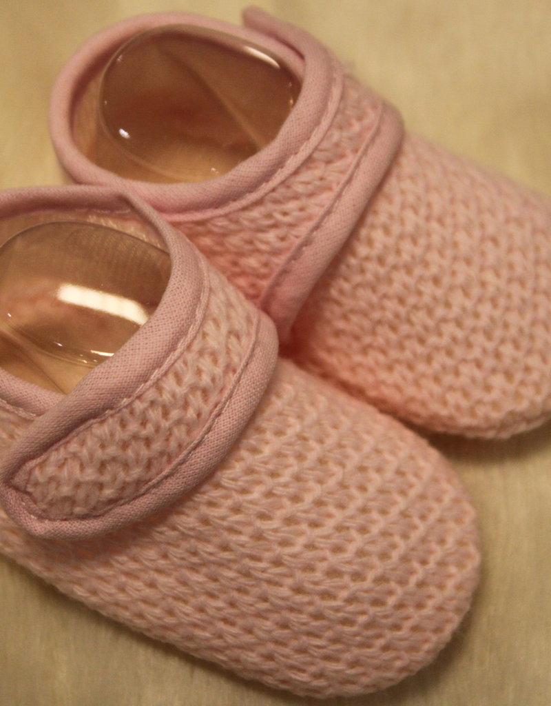 Klein Slofjes roze met klittenband