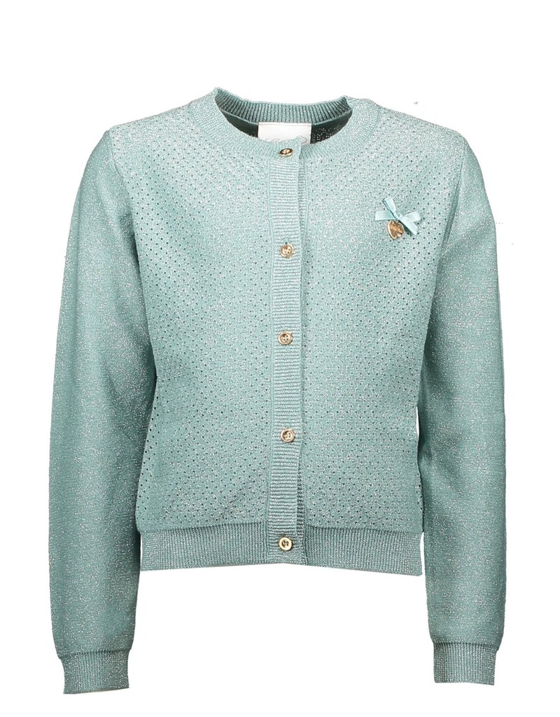 Le Chic Le Chic cardigan heart at back C911-5300 Seafoam