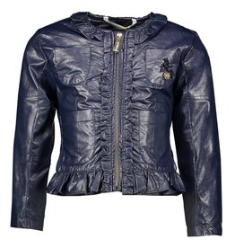 Le Chic Le Chic soft fake leather coat C911-5207 Blue Navy