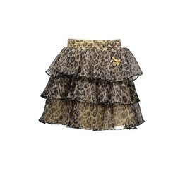 Le Chic Le Chic skirt leopard pleated glitter C911-5715 Fields of Gold